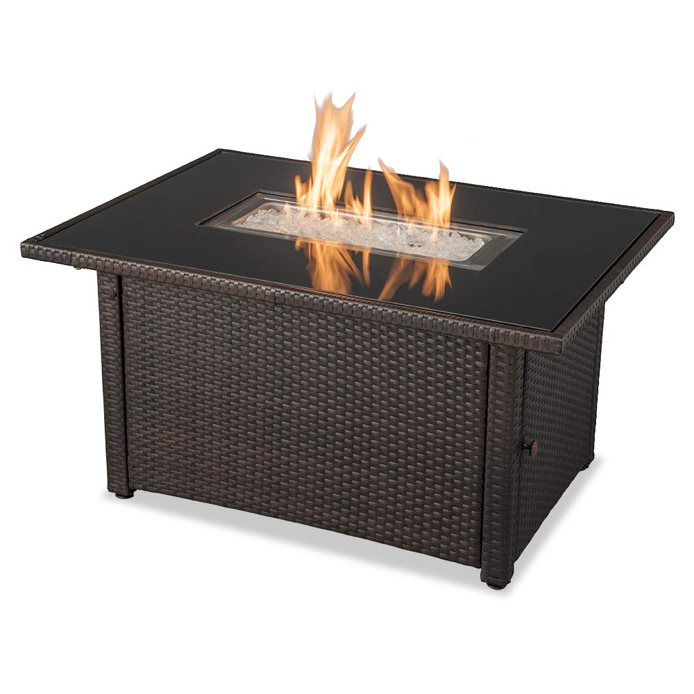 Endless Summer GAD17400SP 44''X32'' Rectangular Outdoor Gas, Brown/Black Fire Table, Multi Color by Endless Summer