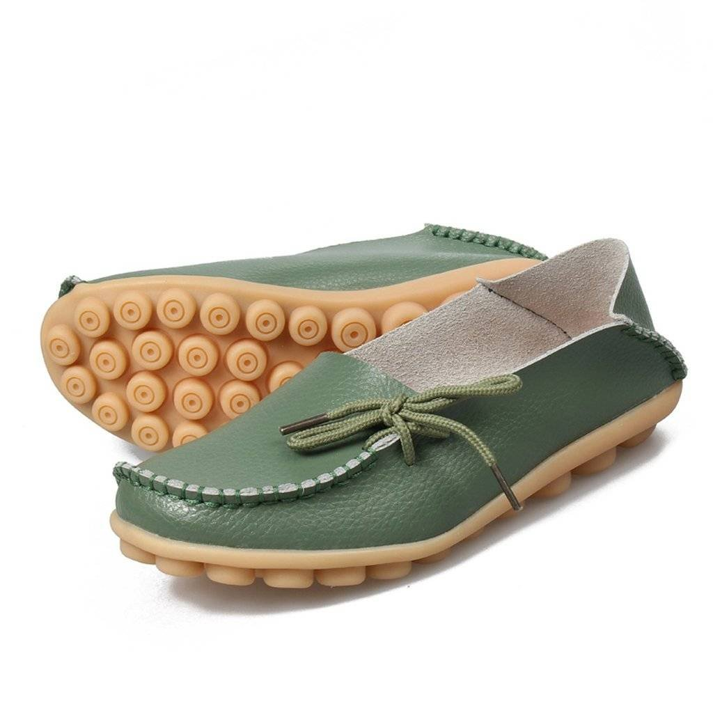 FangstoLoafer Flats - A collo basso donna Sty-1 Army Green Green Green 1c2dab