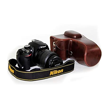 Funda de Piel sintética para cámara Nikon D3200/D3100/D3300 ...