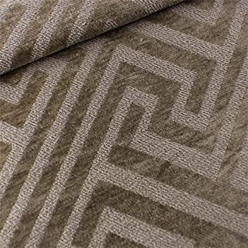 Amazon.com: Brown Greek Key Chenille/Boucle Home Decorating Fabric ...