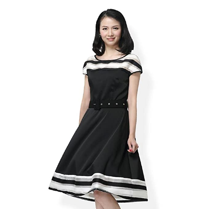 7ab82e1957930 Sypdress 2017, Summer Style Slim Collar, White Princess Dress, Fashion  Black And White