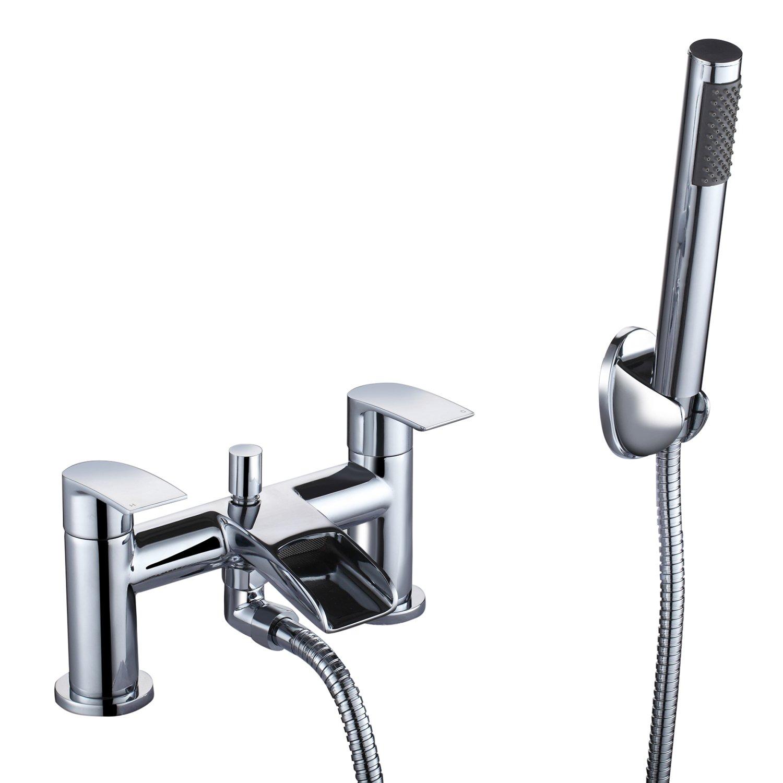 Bath Shower Tap] Hapilife Waterfall Bathroom Water Filter Mixer