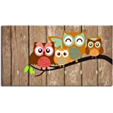 Studio Shubham Vintage Owl Wooden Key Holder (23.4cm X 12.8cm X 3cm, Brown)