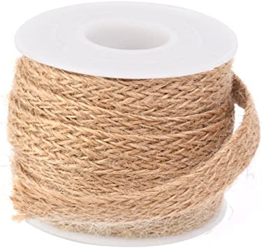 5M Woven Braided Jute Burlap Hessian Ribbon Rope String Wedding Twine Cord