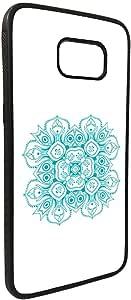 كفر جلاكسي نوت 5  بتصميم رسوم زخرفية - وردة