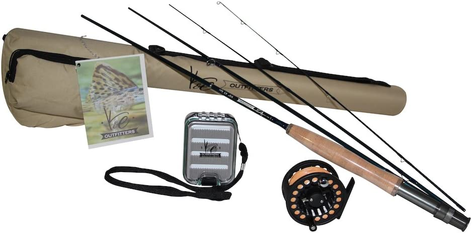 Amazon Com K E Outfitters Drift Series 3wt Fly Fishing Trout Rod And Reel Combo Package Black Reel Sports Outdoors