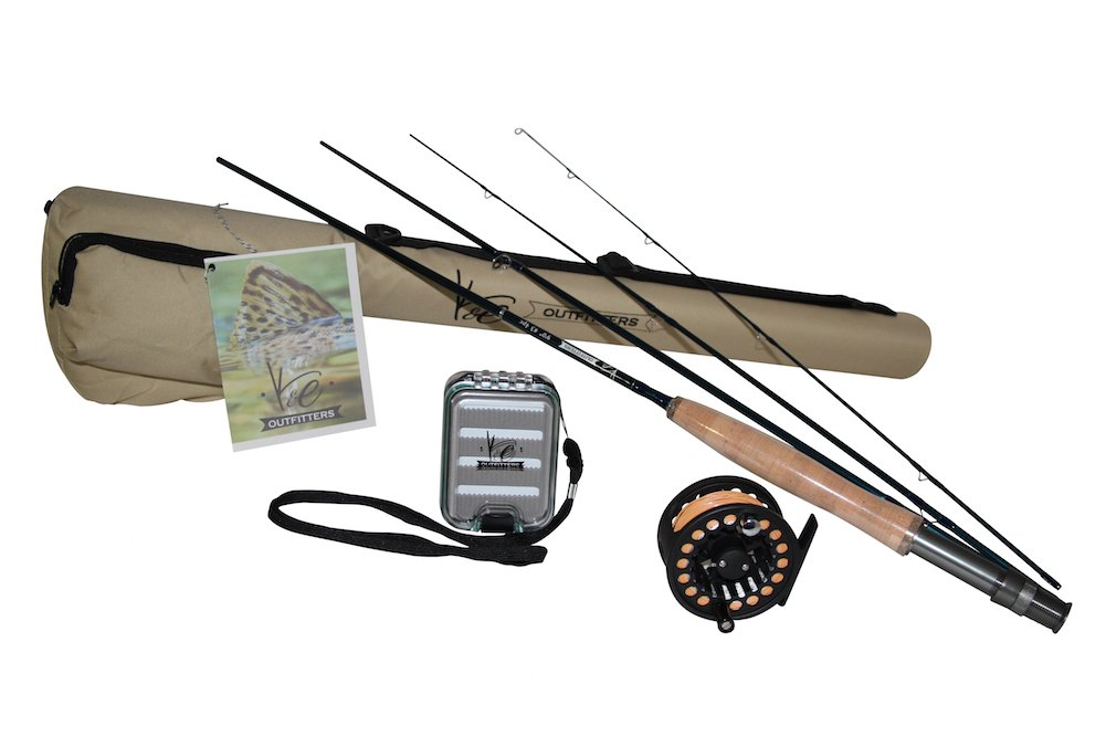 K e outfitters drift series 3wt fly fishing trout rod and for Trout fishing rod and reel