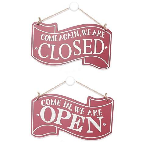 Open Closed Schild, Holz Hängen Shop Zeichen Vintage ...