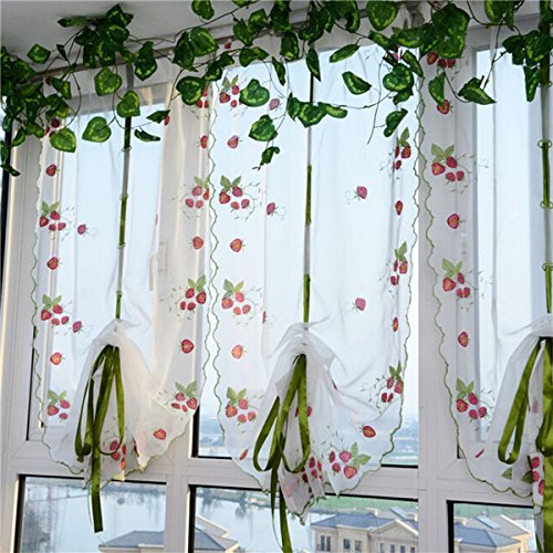free-shipping-100x80cm-strawberries-liftting-tulle-curtain-door-window-sheer-curtain-blinds-100x80cm