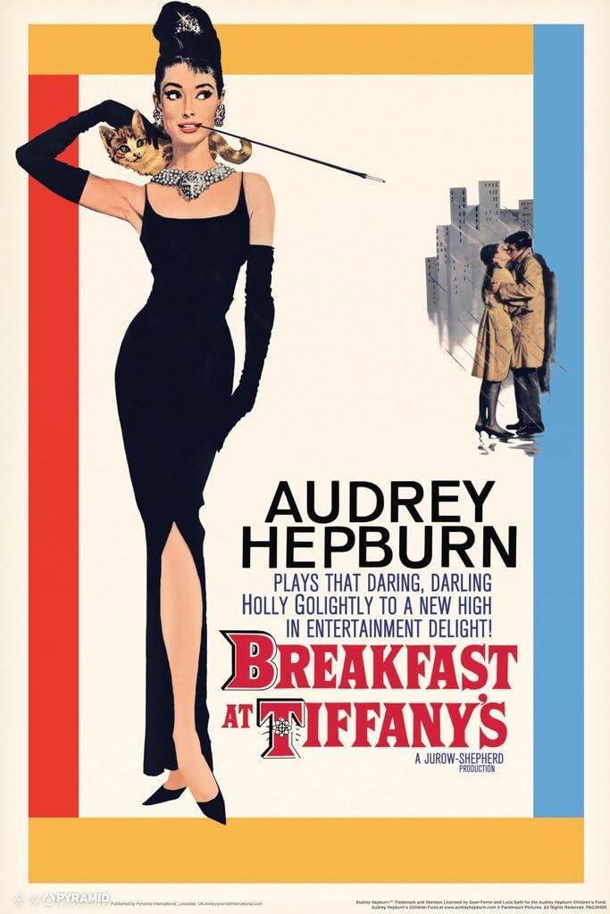 Pyramid America Breakfast at Tiffanys Audrey Hepburn Movie Cool Wall Decor Art Print Poster 12x18