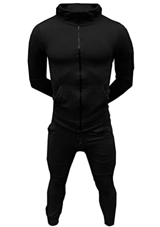 76a55b92 SA Fashions® Mens Training Tracksuit Corduroy Hoodie Joggers Gym Suit Top  Bottom Patch Panel Cotton