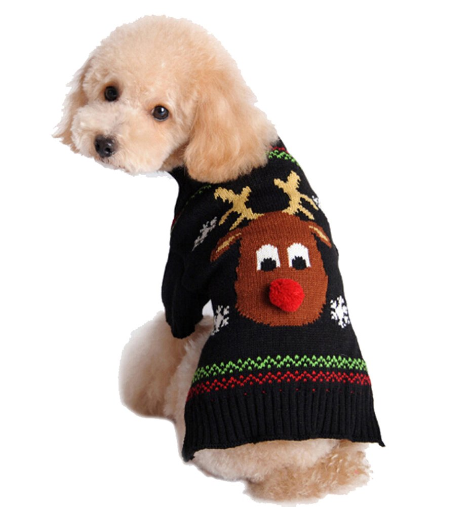 Puppy Dog Christmas Knitted Sweater