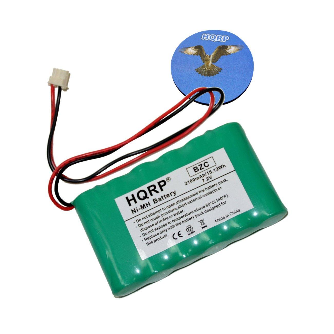 HQRP 2100mAh High Capacity Backup Battery for Ademco Honeywell Lynx Plus Touch L3000 L5000 L5100 L5200 L7000 LYNXRCHKITSHA LYNXRCHKIT-SHA 300-03866 WALYNX-RCHB-SHA Replacement + HQRP Coaster