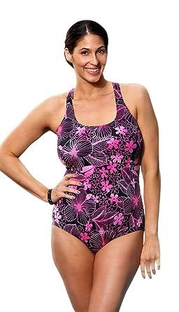 0f0652805d Aquabelle Pink Floral Plus Size Cross Back Swimsuit Women S Swimwear - Pink  - Size 18