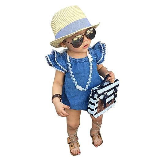 e5ed59954 Amazon.com  Sunward Newborn Infant Toddler Baby Girl Lace Floral ...