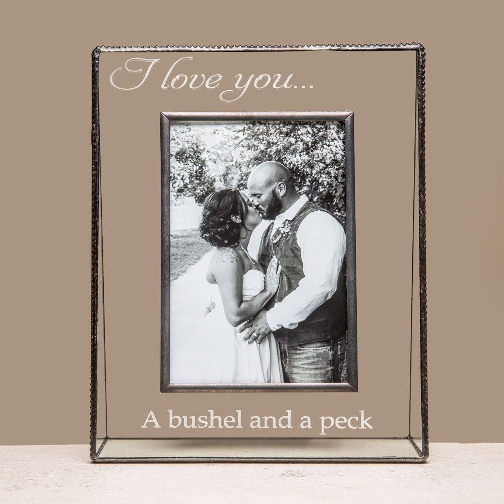 Amazon.com - J Devlin Clear Glass Photo Frame - I Love You Bushel ...