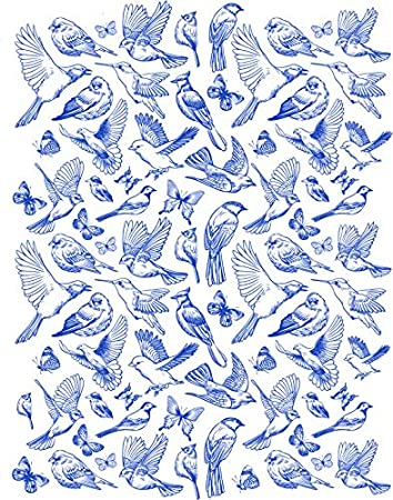 Sanbao Studio Ceramic Decals Blue Birds and Butterfly