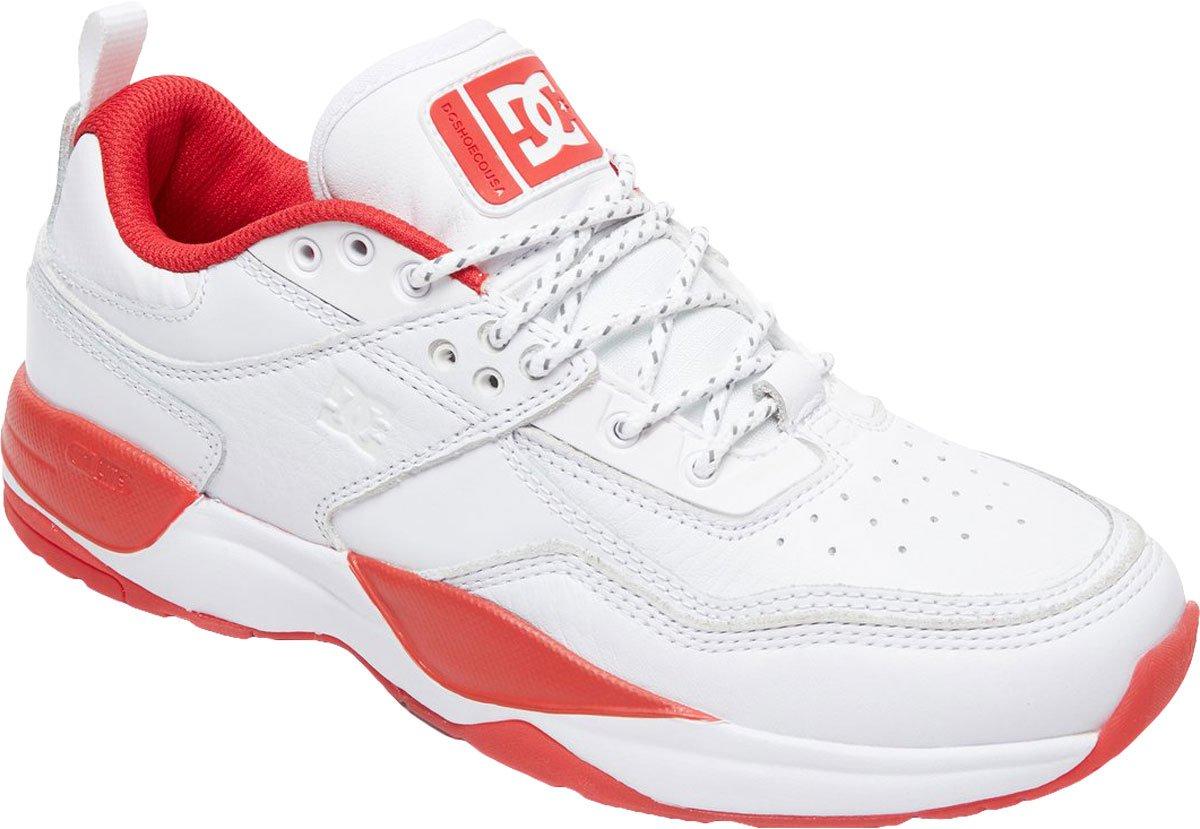 DC Men's E.Tribeka S Js Shoes,9D,White/Red