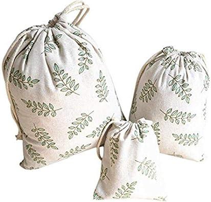 Depory 3 bolsas de almacenamiento de algodón con cordón y diseño ...