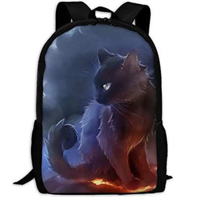 CYMO Warrior Cat Unique Casual Backpack School Bag Travel Daypack Gift: Toys & Games