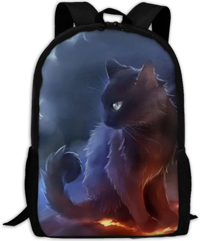 Warrior Cat School Rucksack College Bookbag Unisex Travel Backpack Laptop Bag