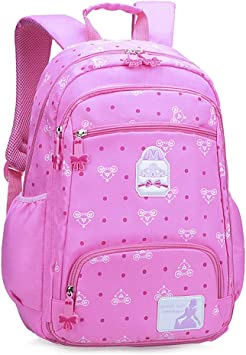 Childrens School Backpack Waterproof Rucksack For Bookbag Daypack For Kids,Pink-L
