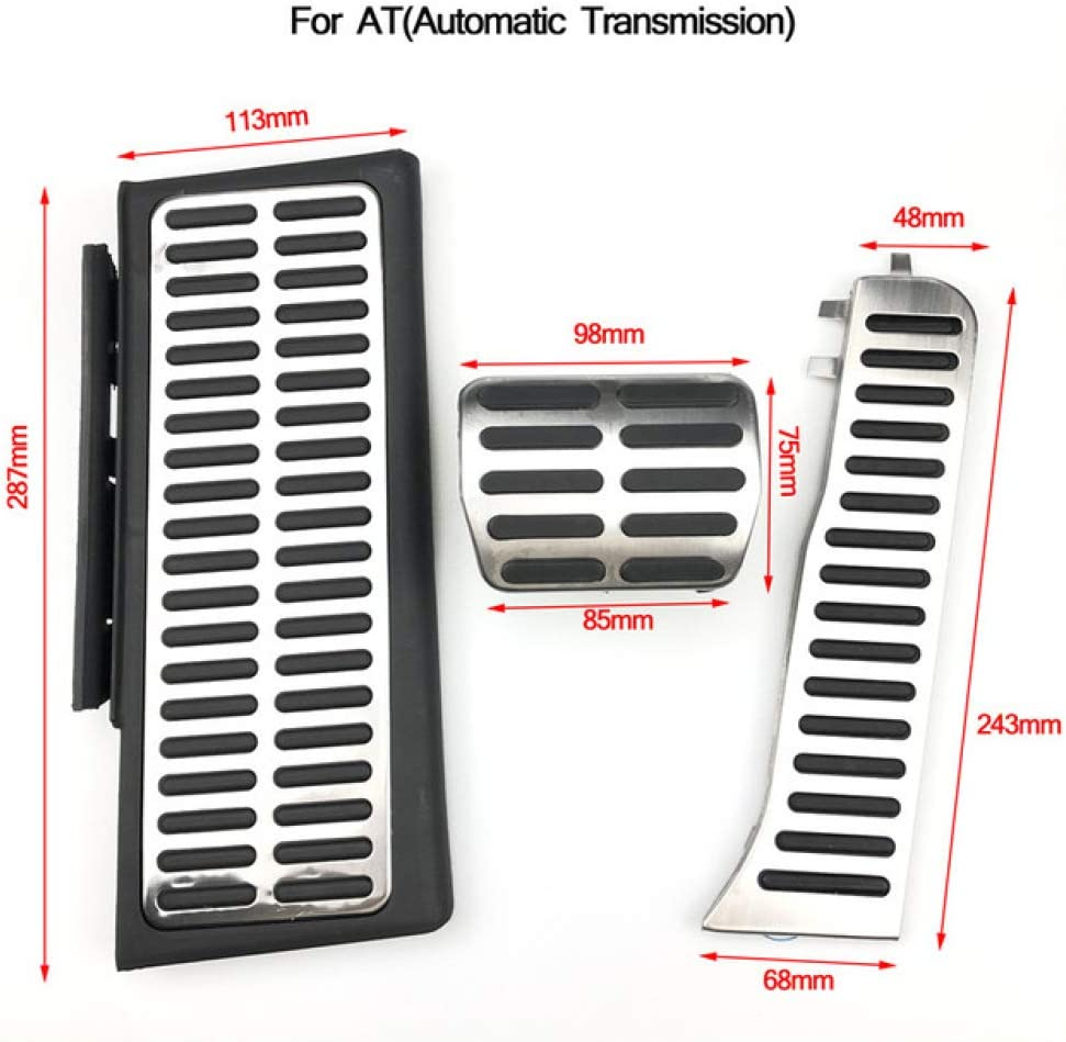 DHFBS Autozubeh/ör Accelerator/Bremse Kupplung Fu/ßrasten Pedal f/ür Audi Q3 2013-2018 Automatik Schaltgetriebe Edelstahl Modified Pad