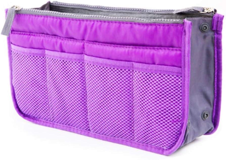 Waveni Travel Makeup Bag Premium Vegan Designer Make Up Bag Organizer Train Case For Women Make Up Bags Or Make Up Cases Color Purple Amazon Co Uk Kitchen Home