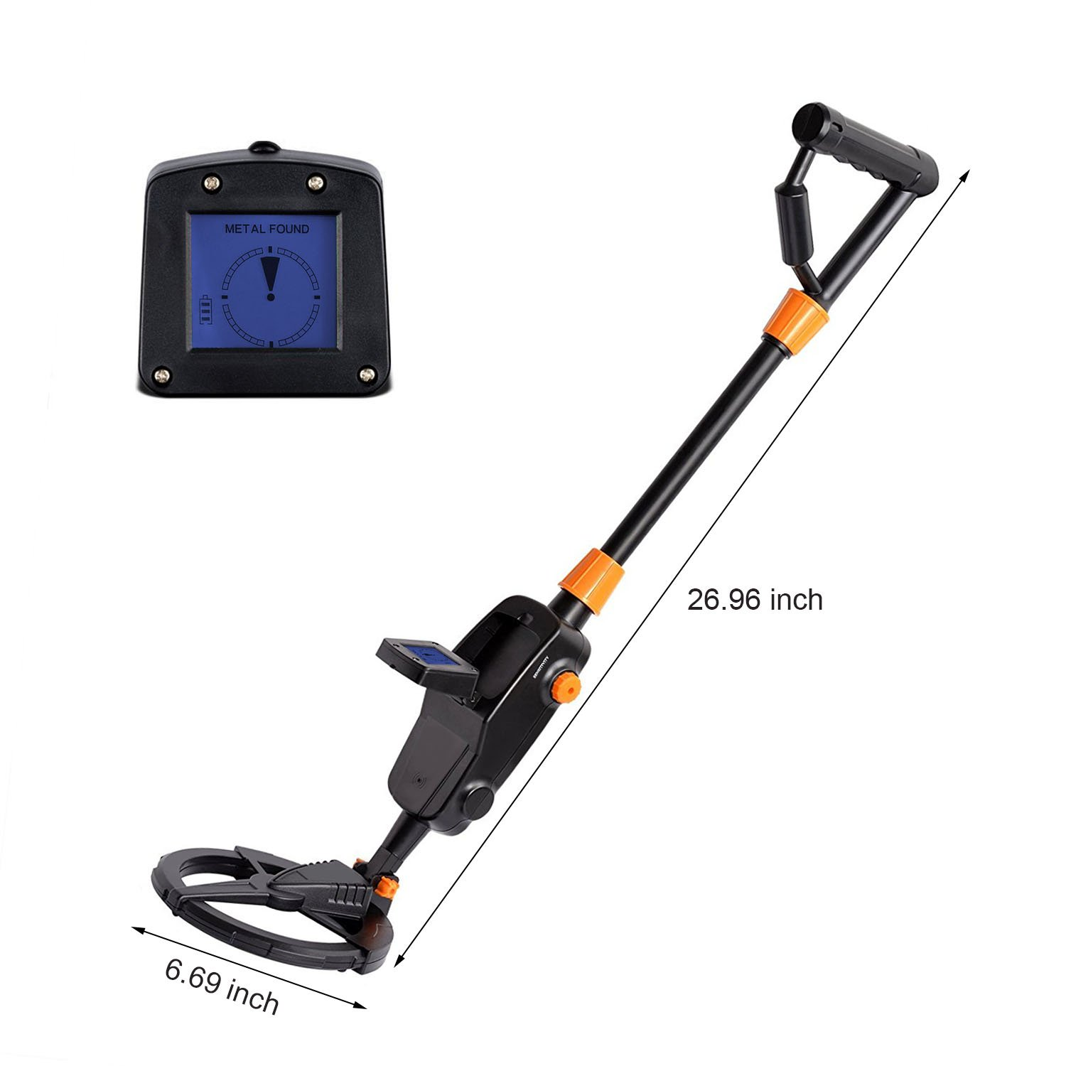 Piscatorzone Kids Metal Detector Md 1008a Underground Fun To Findcoins At The Beach Gold Finder Treasure Hunter Advanced Searching Machine With Lcd Display Waterproof