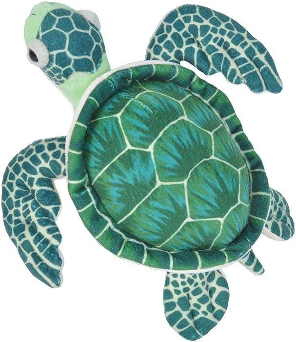 Wild Republic Sea Turtle Plush, Stuffed Animal, Plush Toy, Gifts for Kids, Cuddlekins, Green 8 Inches
