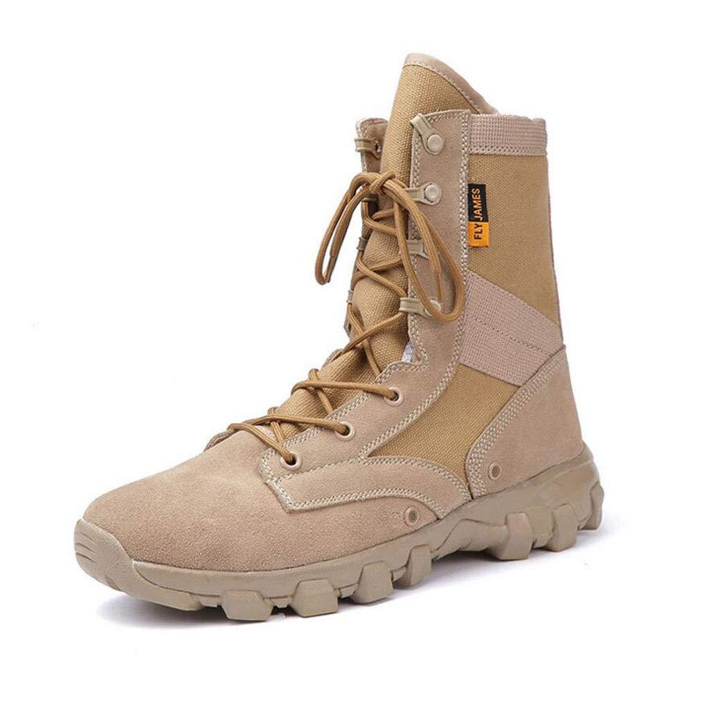 XxoSchuhe Männer 8 Zoll militärische Taktische Stiefel Kampf Desert Duty Arbeitsschuhe mit Seitlichem Reißverschluss