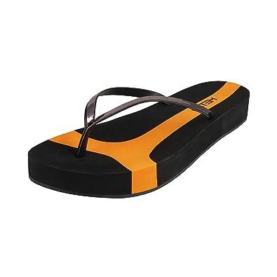 6febba7ee METRO Women BLACK Synthetic Flip Flops ( 32-9791 ) ( 32-9791-11-BLACK )  Buy  Online at Low Prices in India - Amazon.in