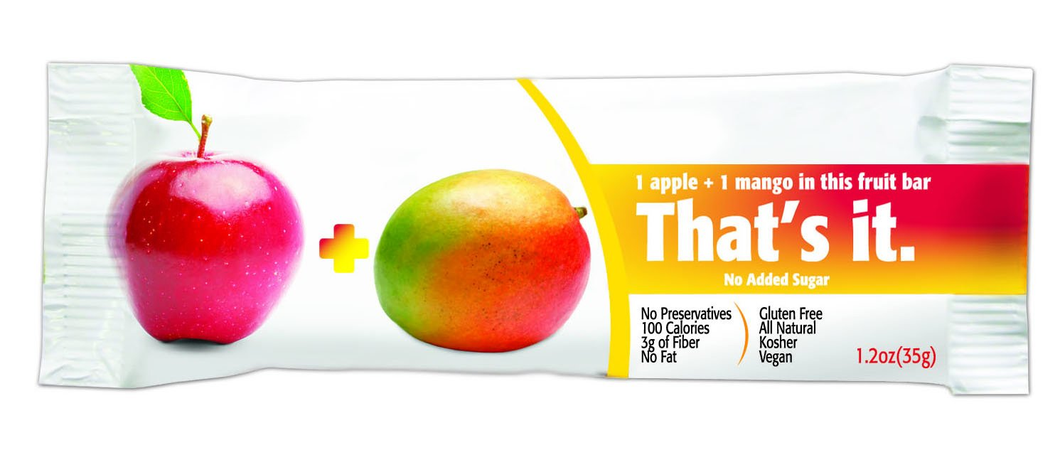 That's It Apple Mango Snack Bar Gluten Free 1.2 oz, Pack of 72