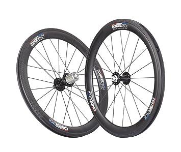 Control Tech Clincher 406 Full carbono rueda para bicicleta foldering, Negro, 50,8 cm: Amazon.es: Deportes y aire libre