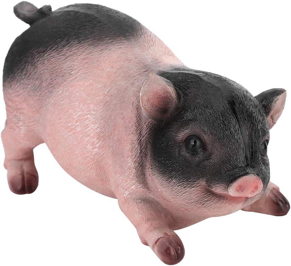 LIOOBO 6PCS Resin Durable Cartoon Creative Cute Pig Figurines Pig Sculpture Pig Statue for Decoration Car Home Party