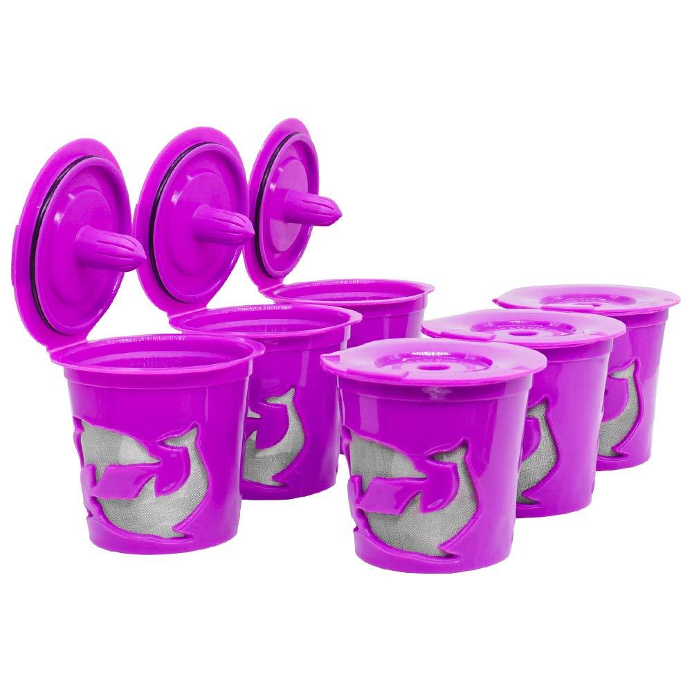 MG コーヒー 詰め替え用コーヒーポッド 詰め替え可能カップ 再利用可能 コーヒーフィルター K200 K250 K300 K350 K400 K450 K460 K500 K550 K560 1.0コーヒーメーカー用 パープル   B07GRK3KYR