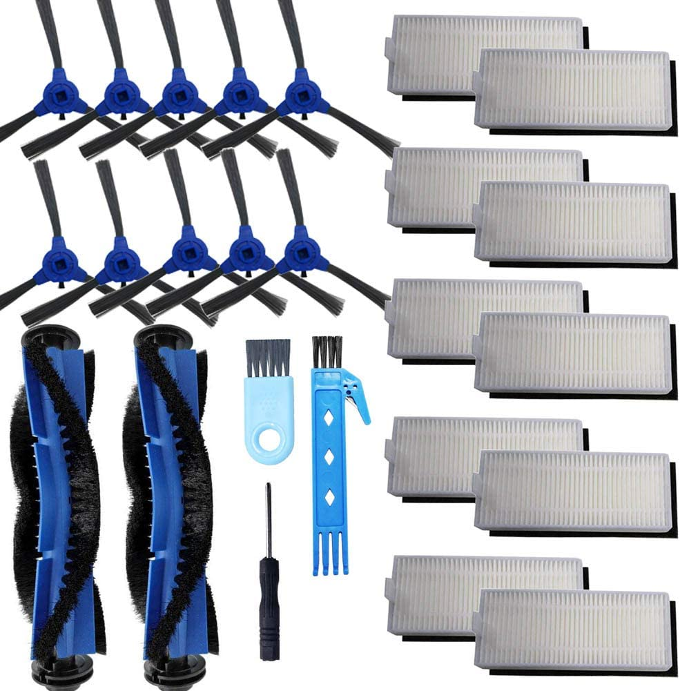 KOVEKO Accessories Kit for RoboVac 11S RoboVac 15C RoboVac 15T RoboVac 30 RoboVac 30C RoboVac 35C RoboVac 12 Robot Vacuum Cleaner Replacement Parts Including Main Brush, Side Brush, Hepa Filter