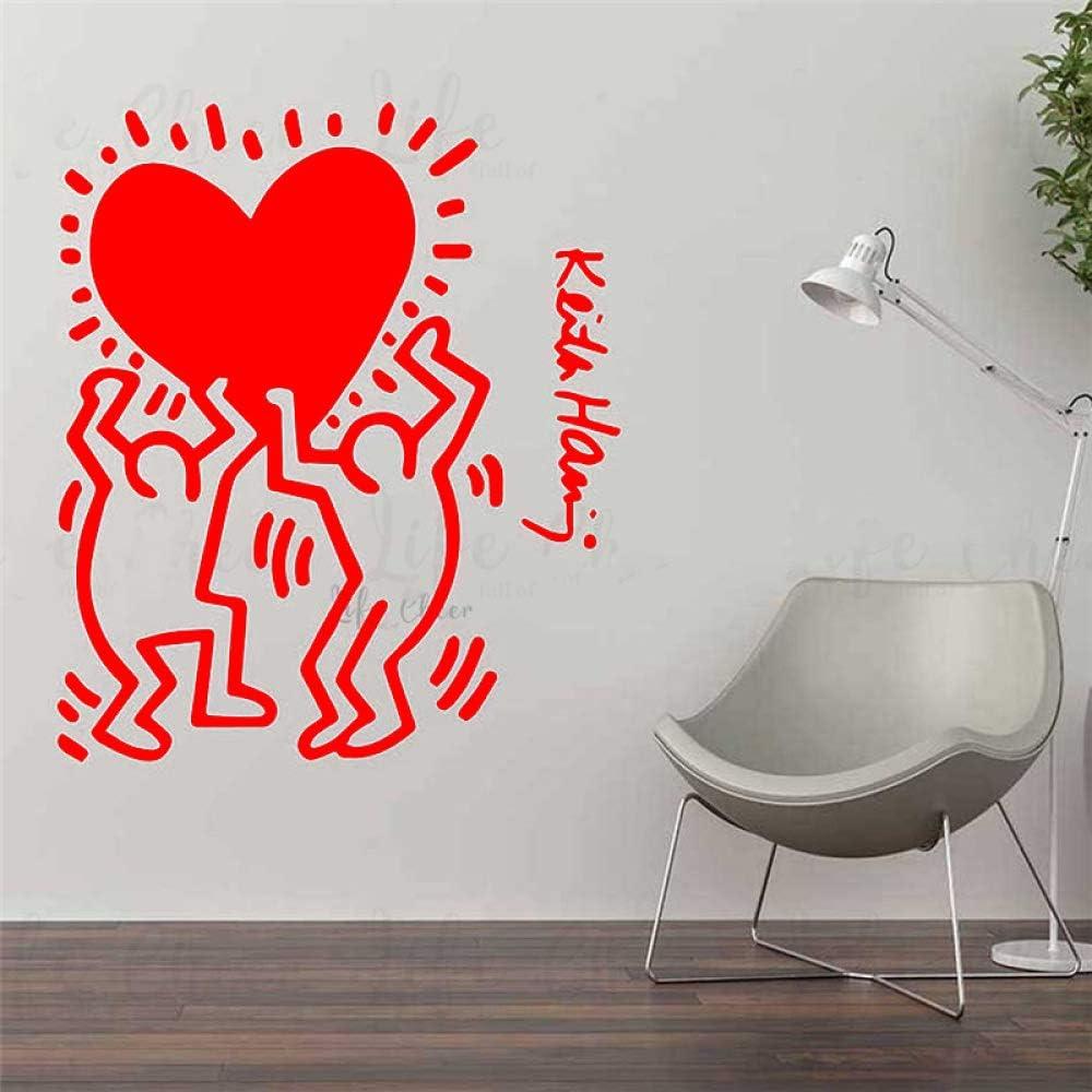 Adesivi Murali Keith Haring.Xingbuxin Adesivi Murali In Vinile Di Keith Haring Cool Street Art Decorazioni Per La Casa Persone Con Disegni Murali Adesivi Murali Vinile 2 70x82cm Amazon It Casa E Cucina