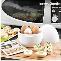 Innovagoods BB_V0101051 Eierkoker voor magnetron met receptenboek Boilegg, wit