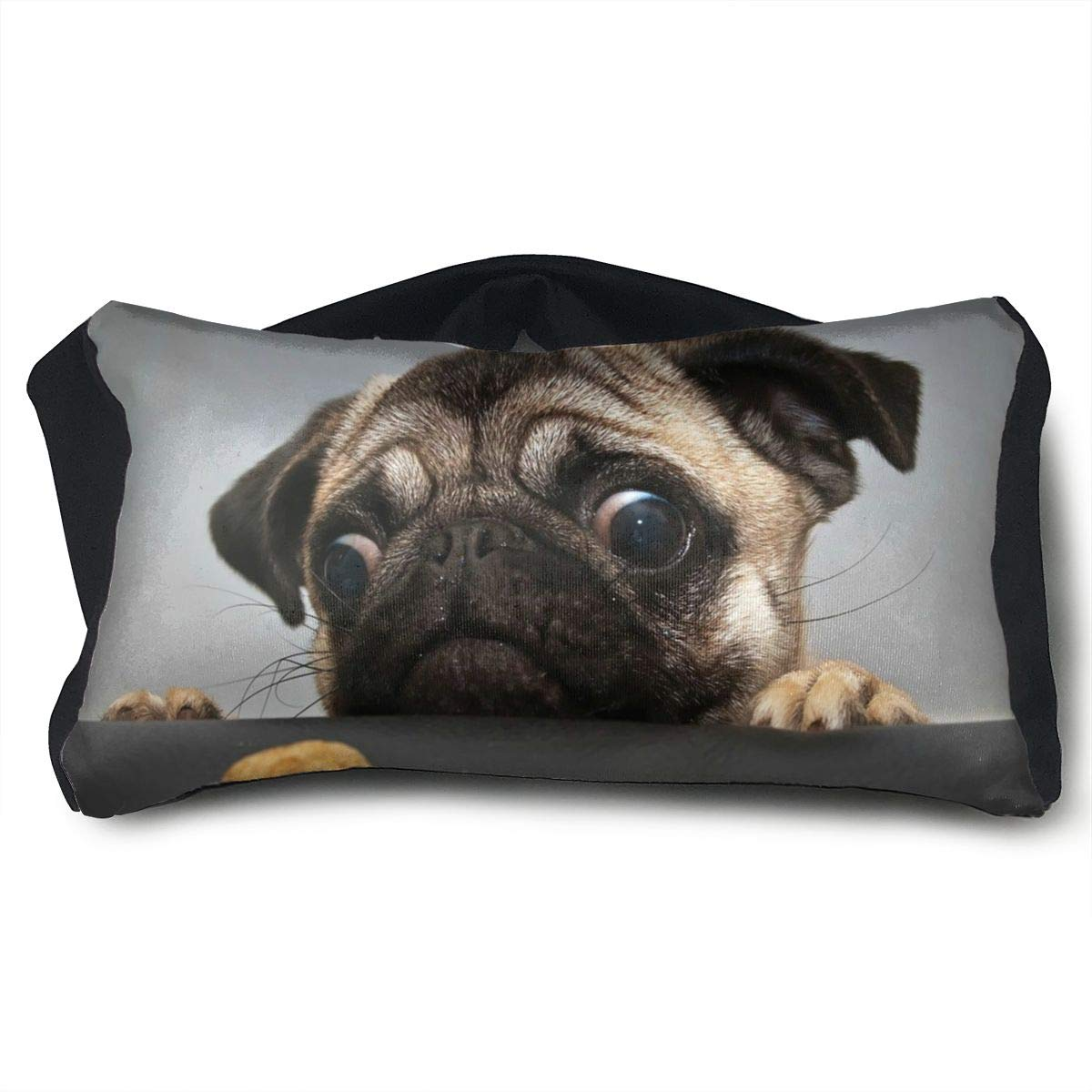SUNNMOON Funny Animal Bulldog Want to Eat Neck Travel Pillow and Eye Mask Compact Versatile and Pillow for Airplanes, Travel Pillow and Eye Mask Washable Pillows