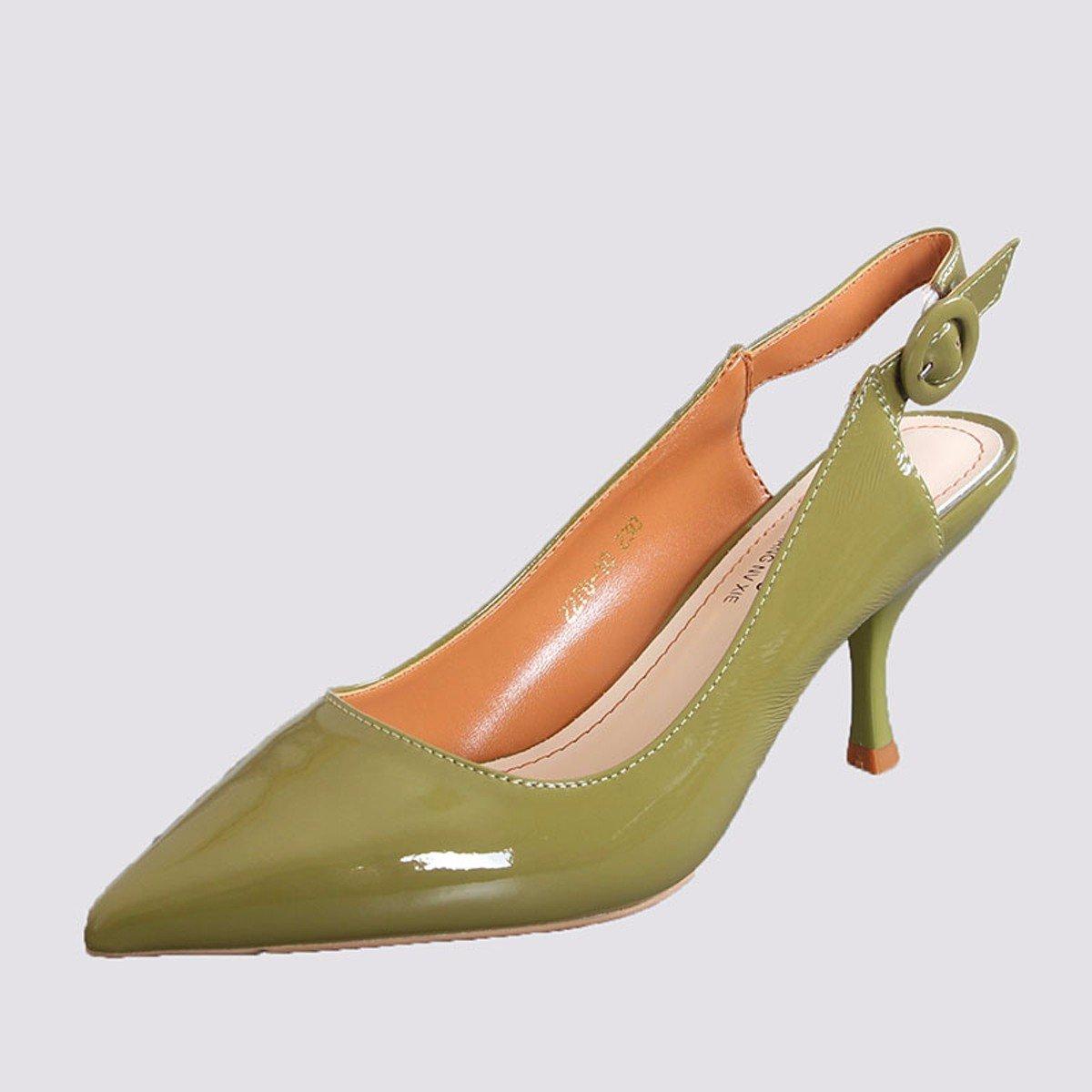 KPHY Scarpe da Donna già 8Cm High Heeled Sandali D'Accordo con La Moda Scarpe da Donna Summer Sexy Wild Baotou Dopo Vuoto 35 verde