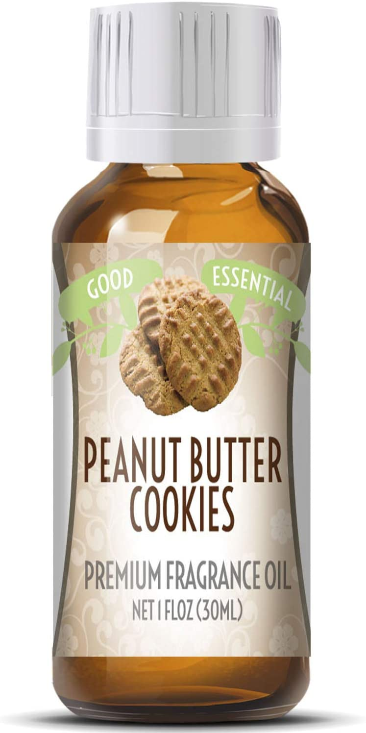 Peanut Butter Cookies Scented Oil by Good Essential (Huge 1oz Bottle - Premium Grade Fragrance Oil) - Perfect for Aromatherapy, Soaps, Candles, Slime, Lotions, and More!