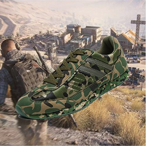 Double Star DOUBLESTAR Mr Unisex Camo Shoes For Outdoors Hunting, Climbing, Hiking, and Training-Green 6.5 D(M) US