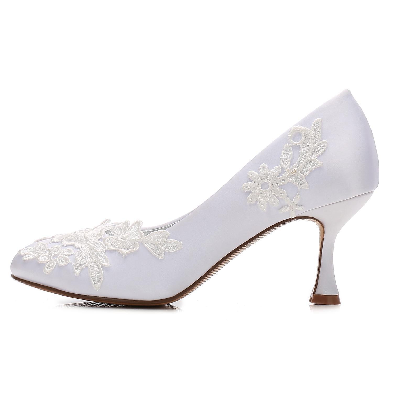 Elegant high schuhe Frauen Hochzeit Schuhe 5047-22 Satin Wies Niedrig Heels Satin 5047-22 Bandagen Geschlossen Toes/Prom/Party, Champagne, 37 Champagne 516af5