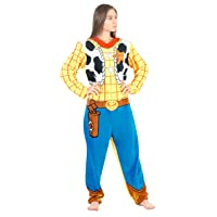 Deals on Briefly Stated Toy Story Sheriff Woody Union Suit Costume Pajama