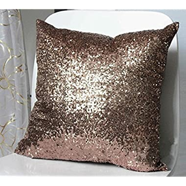 Solid Color Glitter Sequins Throw Pillow Case Cafe Home Decor Cushion Covers Brownness