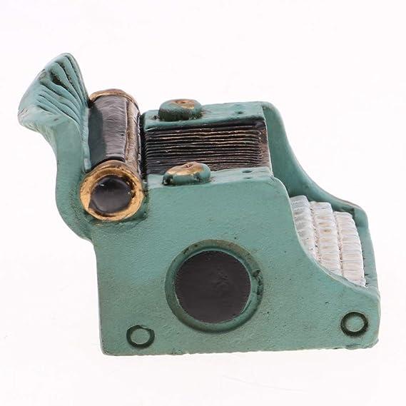 Amazon.es: Baoblaze Juguete Pretender Niños Mini Máquina de Escribir para Casa de Muñecas 1/12 - Verde: Juguetes y juegos
