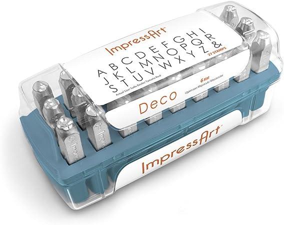 6mm ImpressArt SC1223A-6mm Deco Letter Metal Stamps Uppercase