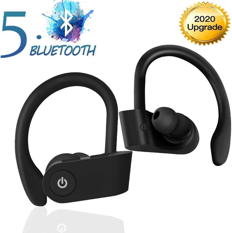 Auriculares Inalámbricos Deportivos, Audífonos Bluetooth 5.0 con Micrófono, Estéreo Auricular, Auriculares Impermeables IPX5, para Running Deporte Gimnasio para iPhone Android Huawei Samsung