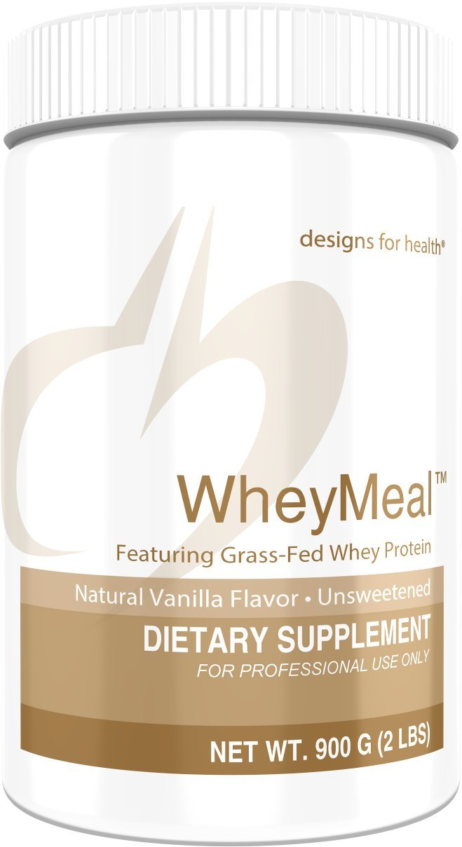 Designs for Health 16g of Grass Fed Whey Protein Powder Vanilla - WheyMeal Vanilla (900g / 25 Servings)